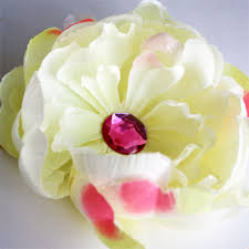 silk flower how to make a skull cap with large silk flower