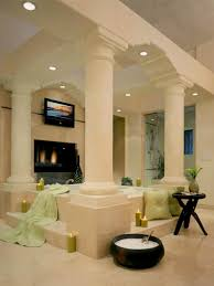 photos hgtv tuscan master bathroom with grand stone columns