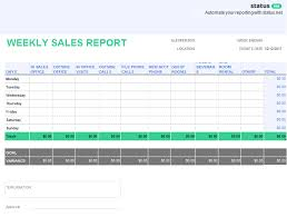 report template 10 outstanding templates of weekly reports free