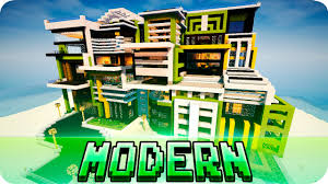 minecraft modern house style map w download jerenvids youtube