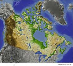 Map Canada by Signs And Info Relief Map Of Canada Stock Illustration I1627163