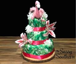 Tropical Themed Cake - how to make a tropical themed diaper cake the sassy southern