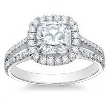 cushion cut split shank engagement rings 3 85 ct halo cushion cut split shank engagement ring h