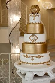 wedding cake gold gold and white wedding cake cake by cofetaria cakesdecor