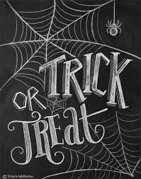 this trick or treat chalkboard print is the perfect addition to