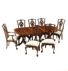 chippendale style dining table and chairs ebth