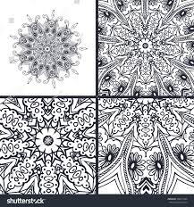 vector abstract coloring pages mandala islam stock vector