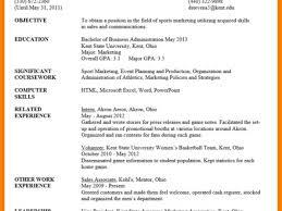 7 sample resume for undergraduate students teen first job resume