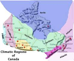 regions of canada map map drawing of the climatic regions of canada canada my