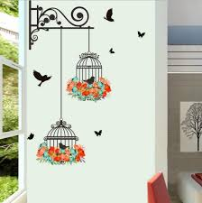 amazon com wall sticker hatop red lily flower wall stickers plane wall sticker fheaven waterproof environmental protection birdcage decorative painting bedroom living room tv wall