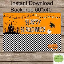happy halloween backdrop instant download by okprintables on zibbet
