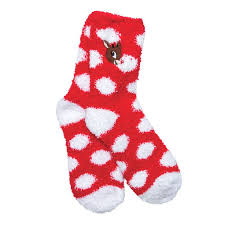 fuzzy christmas socks rudolph fuzzy polka dot socks s wish list