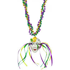 mardi gras beeds mardi gras mask on braided necklace mardigrasoutlet
