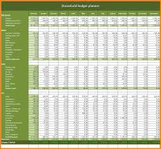 Family Budget Spreadsheet 12 Household Budget Planner Monthly Bills Template