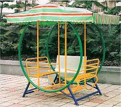 baby swing seat with double bench for child in park and garden hap