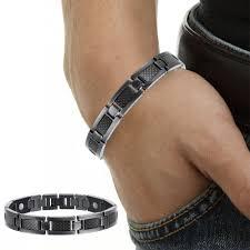 mens black steel bracelet images Buy men jewelry bio energy plated magnetic health jpg