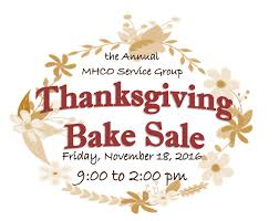 thanksgiving bake sale at mmh friday the bluffton icon