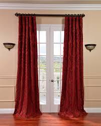 Living Room Curtains Silk Astoria Red Bronze Faux Silk Jacquard Curtains Overstock Com