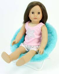 Pink Papasan Cushion by Amazon Com 18 Inch Doll Furniture Fuzzy Aqua Papasan Chair