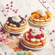 the new fling pancakes from ihop are on a plate