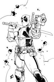 comic book coloring pages free deadpool coloring pages to print comic book coloring pages