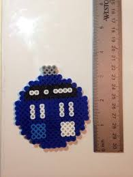 doctor who keychain mini perler by by ngtreasures perler