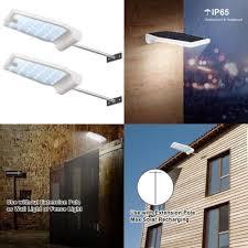 innogear solar gutter lights wall sconces motion sensor w