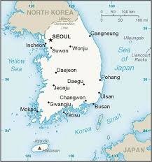 Map Of South Korea South Korea Spends 14 8m To Replace Chinese Robotics Components