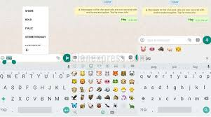 new android emojis whatsapp on android makes it easier to apply text font search for