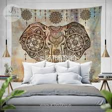 Bohemian Room Decor Boho Elephant Tapestry Ganesh Elephant Wall Hanging Indie Shabby