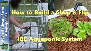 how to build an aquaponic system chop u0026 flip ibc build youtube