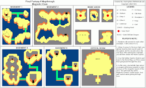 Final Fantasy World Map by Final Fantasy Iv Magnetic Cave Map For Playstation By