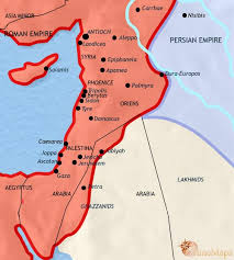 map of syria map of syria at 500ad timemaps