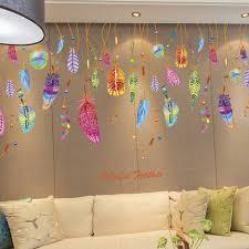 amazon com wda campanula feather wall decals dreamcatcher wall