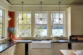 kitchen windows over sink rustic kitchen