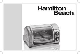 Ge Toaster Oven Manual Download Hamilton Beach Easy Reach 4 Slice Toaster Oven 31334