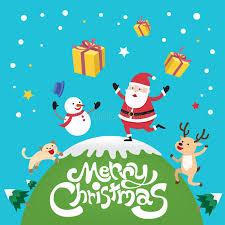 imagenes de santa claus feliz navidad feliz navidad con santa claus el gato del reno y el muñeco de nieve