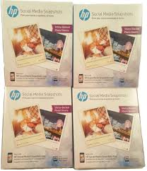 hp social media snapshots 100 sheets 4 packs of 25 count each