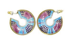 laurel burch earrings early laurel burch sterling enamel earring