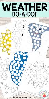 free weather do a dot printables easy peasy learners