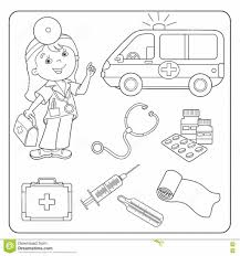 doctor tools coloring page creativemove me