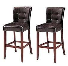 amazon com set of 2 counter height 24 u201d parsons chairs with brown