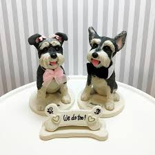 dog cake topper 5 mini schnauzer cake toppers we do bone shaped sign with