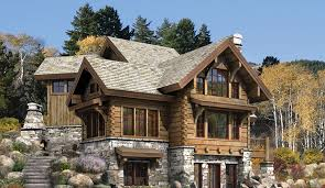 Luxury Home Plans Online Home Designs Luxury Log Plans Natural Stone Fireplace Wooden