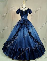 Victorian Dress Halloween Costume Southern Belle West Saloon Ball Gown Theater Halloween Costume