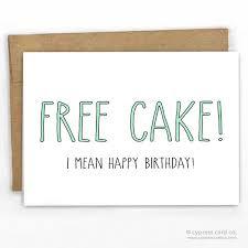 free cake happy birthday card card stock birthdays and cake