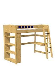 Schreibtisch Holz Hochbett