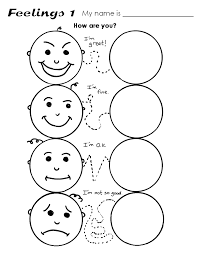 feeling faces coloring sheets pages ideas emotion emotions