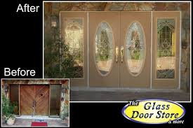 glass for front doors modern glass door insert in single front door with stonework