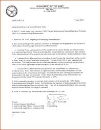 army memorandum template sop example